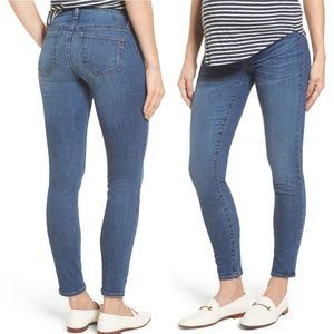 Madewell Maternity Skinny Ankle Jeans Light Wash